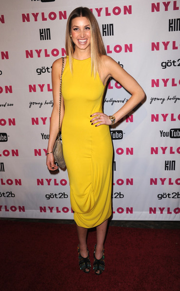 Whitney Port Gold Quartz Watch [yellow,fashion model,flooring,shoulder,dress,cocktail dress,joint,carpet,catwalk,fashion,young hollywood party - arrivals,stephanie pratt,nylon,youtube,hollywood,california,roosevelt hotel,young hollywood party]