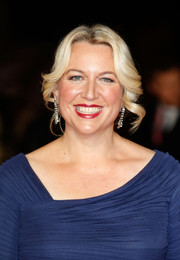 Cheryl Strayed pulled her hair back into a loose bun with spiral tendrils down both sides for the 'Wild' London premiere.