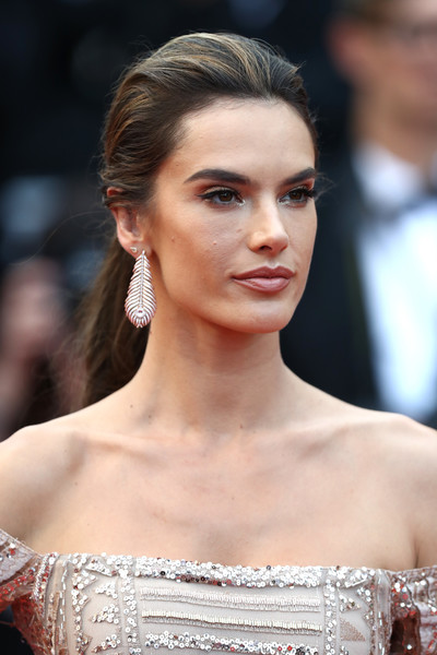 Alessandra Ambrosio opted for a simple yet elegant ponytail when she attended the Cannes Film Festival screening of 'The Wild Pear Tree.'