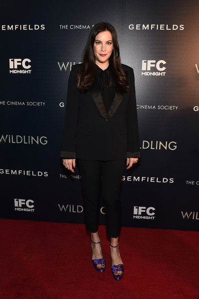 More Pics of Liv Tyler Platform Sandals (5 of 24) - Heels Lookbook - StyleBistro [clothing,red carpet,carpet,footwear,fashion,premiere,flooring,suit,dress,outerwear,liv tyler,wildling,new york,ipic theater,screening,new york screening]