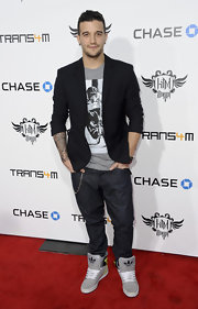 Mark Ballas opted for comfy basketball shoes to wear on the red carpet.