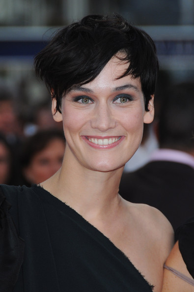 Clotilde Hesme wore her hair in a tousled short style at the Deauville Film Festival premiere of 'You Will Meet a Tall Dark Stranger.'