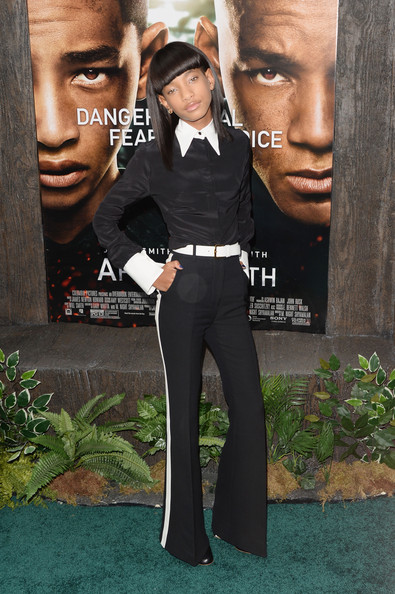 Willow Smith Jumpsuit [red carpet,suit,formal wear,tuxedo,poster,movie,premiere,fictional character,style,black hair,willow smith,earth,new york,ziegfeld theater,premiere]
