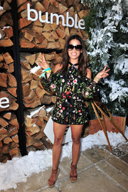 Rocsi Diaz was a total cutie in a floral cold-shoulder romper by Alexis while attending Winter Bumbleland.