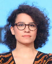 Ilana Glazer sported a thick curly 'do at the 2014 Winter TCA Tour.
