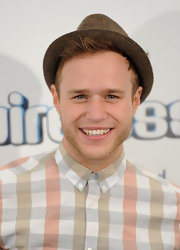 Olly Murs wore another hat at the Wireless Festival, this time, a woven fedora.