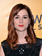 Aya Cash looked fetching with her retro-glam curls at the NYC premiere of 'The Wolf of Wall Street.'