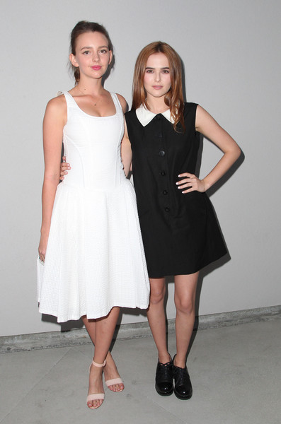 More Pics of Zoey Deutch Sterling Studs (1 of 11) - Zoey Deutch Lookbook - StyleBistro [white,clothing,dress,black,cocktail dress,lady,fashion model,fashion,shoulder,formal wear,arrivals,zoey deutch,wolk morais,natasha bassett,r,wolk morais debut resort,debut resort,los angeles,pre-fall collection fashion show,collection fashion show]