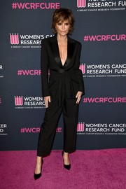 LIsa Rinna looked sharp in a black tuxedo jumpsuit at the 2020 Unforgettable Evening Gala.