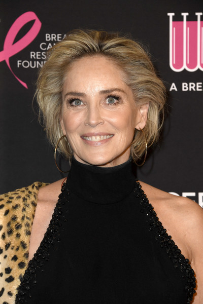 Sharon Stone looked gorgeous with her brushed-back bob at the Unforgettable Evening gala.