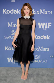 Sofia Coppola stuck to a fashion staple when she opted for a black dress for the Lucy + Crystal Awards.