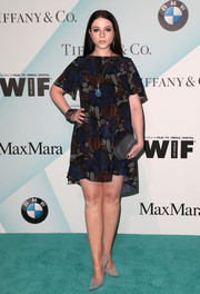 Michelle Trachtenberg opted for a casual-chic A-line print dress when she attended the Crystal + Lucy Awards.