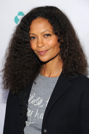 Thandie Newton kept it natural with this high-volume curly 'do at the Women in World Summit.
