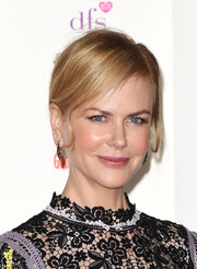 Nicole Kidman made an appearance at the Women of the Year Awards wearing a loose, side-parted updo.