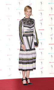 Nicole Kidman looked like a doll in this multicolored Erdem lace dress during the Women of the Year Awards.