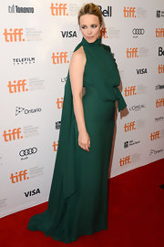 Rachel McAdams looked divine in her forest green draped gown at the 'To the Wonder' premiere.