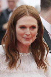 Julianne Moore wore her hair in face-framing waves at the Cannes Film Festival screening of 'Wonderstruck.'