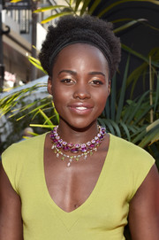 Lupita Nyong'o sported her natural curls at the world premiere of 'The Jungle Book.'