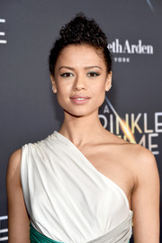 Gugu Mbatha-Raw wore her hair in a curly pompadour at the premiere of 'A Wrinkle in Time.'