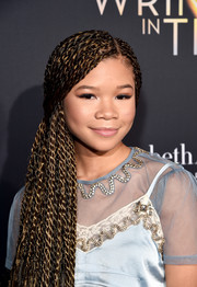 Storm Reid rocked a side-swept multi-braid hairstyle at the premiere of 'A Wrinkle in Time.'