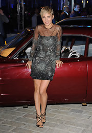 Elsa Pataky shimmered at the 'Fast & Furious 6' after party when she sported this beaded starburst mini dress.