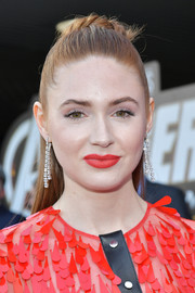 Karen Gillan styled her hair into a half updo for the world premiere of 'Avengers: Endgame.'