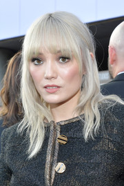 Pom Klementieff attended the world premiere of 'Avengers: Endgame' wearing a subtly wavy 'do with rounded bangs.