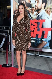 Dania Ramirez sparkled on the red carpet in a gold sequin dress by Alice + Olivia at the world premiere of 'Fist Fight.'