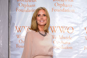 Heidi Klum attends Worldwide Orphans Foundation Sixth Annual Benefit Gala Hosted by Heidi Klum and Seal on November 1, 2010 in New York City.