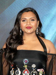 Mindy Kaling was elegantly coiffed with this long wavy 'do at the European premiere of 'A Wrinkle in Time.'