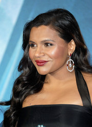 Mindy Kaling stayed classic with this red lipstick at the European premiere of 'A Wrinkle in Time.'