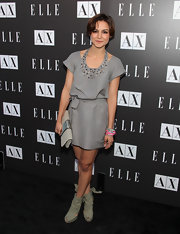 Samaire's grey day dress looked amazing. The embellished neckline was the stand out piece.