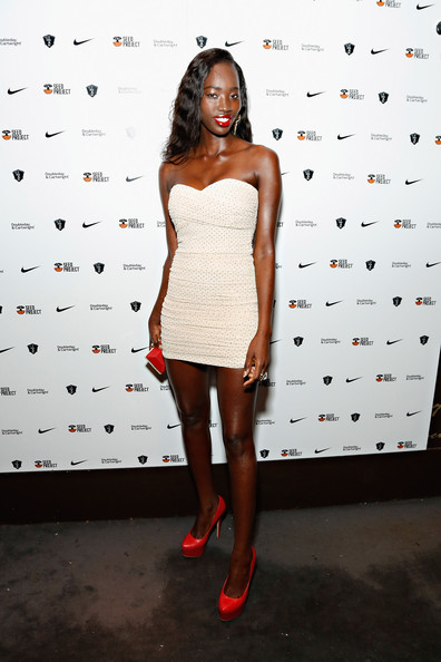 Yacine Ndiaye Strapless Dress