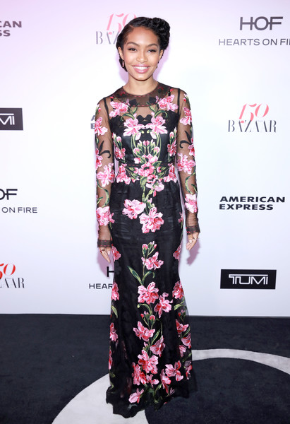 Yara Shahidi Embroidered Dress
