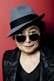 Yoko Ono paid homage to a classic by giving it a modern twist. She rocked dark tinted wayfarers with a a cool clear frame as she introduced the screening of 'Gasland.'