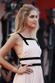 Chiara Ferragni put her 'Luce' (Italian for 'light') tattoo on display when she wore this backless dress to the Venice Film Festival premiere of 'The Young Pope.'