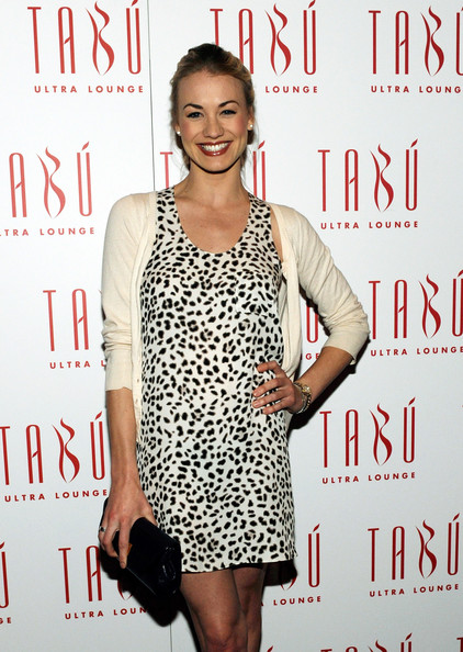 Yvonne Strahovski Patent Leather Clutch