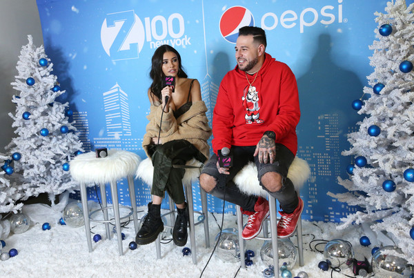 More Pics of Madison Beer Faux Fur Coat (1 of 13) - Outerwear Lookbook - StyleBistro [blue,red,christmas,tree,christmas eve,christmas tree,footwear,event,fashion,fun,arrivals,madison beer,new york city,hammerstein ballroom,z100,jingle ball 2018,pre-show,mo bounce]