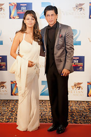Shahrukh Khan's silver blazer was a fashionable finish to his ensemble at the 2012 Zee Cine Awards.
