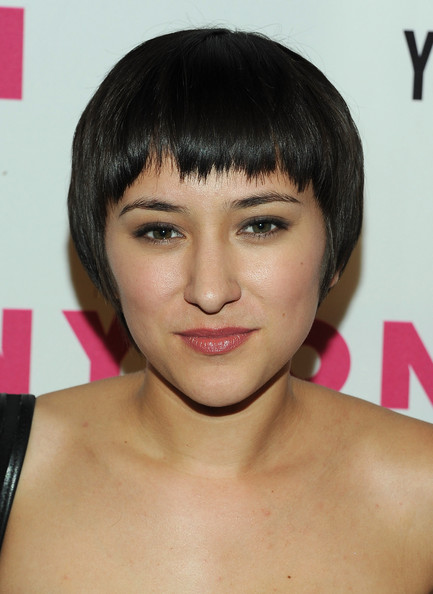 Zelda Williams Bowl Cut [hair,face,hairstyle,eyebrow,chin,bangs,black hair,skin,bob cut,forehead,arrivals,zelda williams,bardot,hollywood,california,nylon magazine,may young hollywood issue celebration]