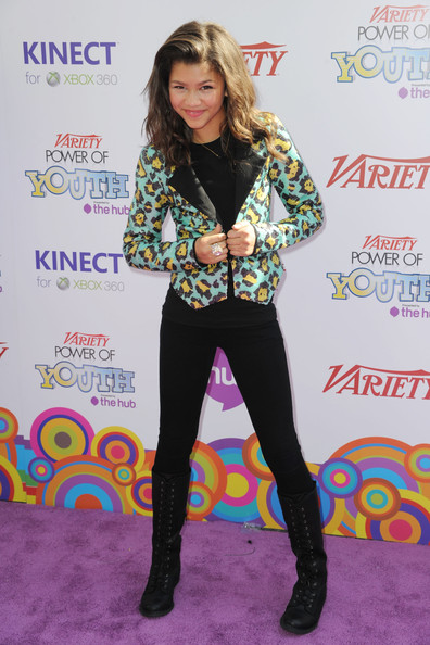 Zendaya Coleman Combat Boots [footwear,flooring,fashion,tights,leggings,leg,carpet,shoe,product,long hair,arrivals,zendaya coleman,california,hollywood,variety,4th annual power of youth,paramount studios,4th annual power of youth event,event,zendaya,shake it up,actor,singer,musician,tinker bell,photography]