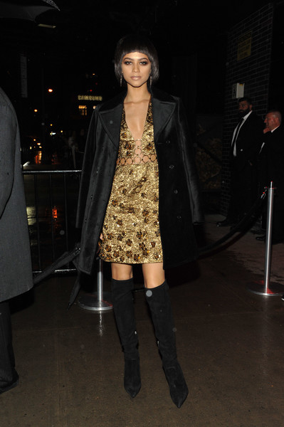 Zendaya Coleman Over the Knee Boots