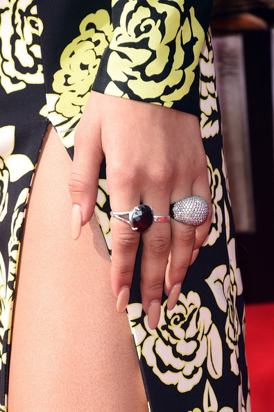 Zendaya Coleman Cocktail Ring [nail,finger,skin,leg,thigh,hand,arm,human leg,joint,nail care,arrivals,zendaya,mtv movie awards,ring detail,california,los angeles,nokia theatre l.a. live]