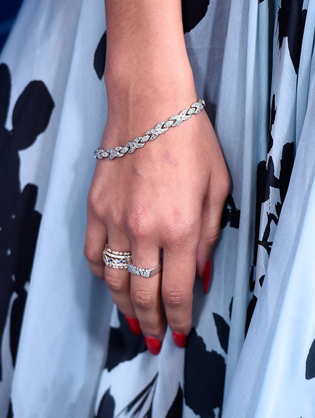 Zendaya Coleman Stackable Rings [finger,hand,jewellery,fashion accessory,body jewelry,nail,bracelet,arm,ring,interaction,arrivals,zendaya,fashion detail,beverly hills,california,beverly wilshire four seasons hotel,princess grace awards,christian dior couture,princess grace awards gala]