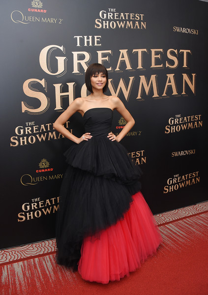 Zendaya Coleman Strapless Dress [the greatest showman world premiere,flooring,gown,beauty,dress,carpet,lady,fashion,red carpet,fashion model,cocktail dress,zendaya,model,brooklyn cruise terminal,borough,new york city,queen mary 2,zendaya,the greatest showman,red carpet,celebrity,premiere,the greatest showman: original motion picture soundtrack,film,fashion,dress]
