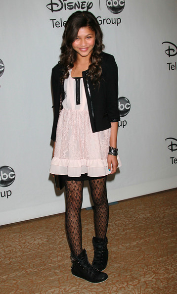 Zendaya Coleman Tights [footwear,fashion model,tights,fashion accessory,joint,flooring,fashion,leg,shoulder,outerwear,arrivals,zendaya coleman,beverly hills,california,beverly hilton,abc television group,disney,party,summer tca party,summer tca,zendaya,jessie,disney channel,actor,disney channel circle of stars,celebrity,television show,television]