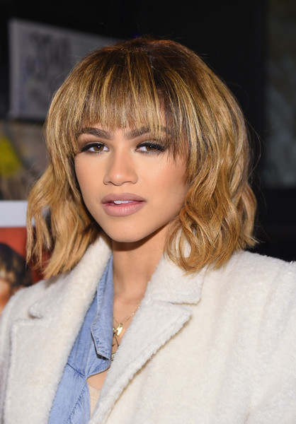 Zendaya Coleman Short Wavy Cut [something new,hair,hairstyle,face,blond,bangs,eyebrow,layered hair,chin,brown hair,lip,zendaya,actress,new york city,black tap,fan event,fan event]