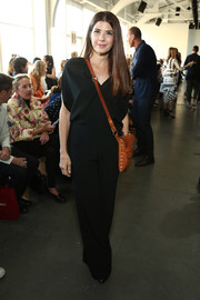 Marisa Tomei was casual yet stylish in a black jumpsuit while attending the Zero + Maria Cornejo fashion show.