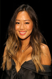Aimee Song sported cool ombre waves at the Zimmermann fashion show.