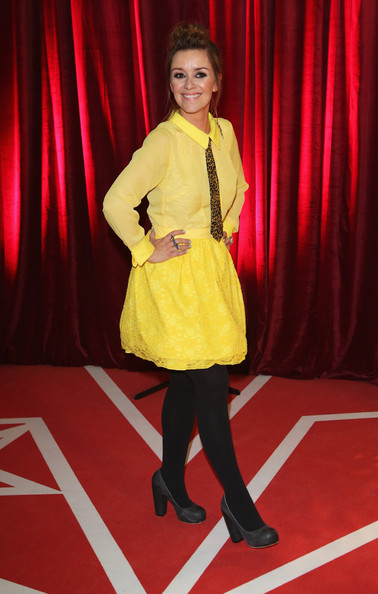 Zoe Henry Cocktail Dress [red,flooring,carpet,fashion,dress,girl,costume,performance,red carpet,smile,red carpet arrivals,zoe henry,british soap awards,manchester,england,media city]
